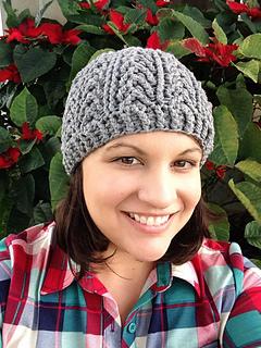 Arrowhead beanie for men crocheted winter beanie