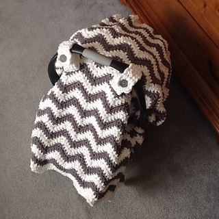 Astonishing Chunky Chevron Car Seat Canopy Cover Pattern By Crochet By Jennifer Creativecarmelina Interior Chair Design Creativecarmelinacom