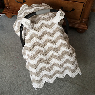 Awesome Chunky Chevron Car Seat Canopy Cover Pattern By Crochet By Jennifer Creativecarmelina Interior Chair Design Creativecarmelinacom