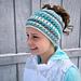 Criss Cross Ponytail or Messy Bun Hat pattern