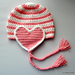 Classy Heart Earflap Hat pattern