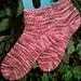 My Pink Ladyslipper Socks pattern