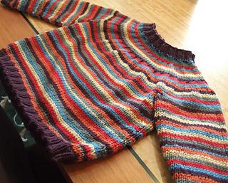 yoked striped sweater for yohana