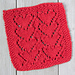 Lovely Heart Dishcloth pattern