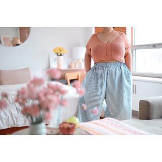 """59"""" garment on 52.5"""" chest, body length knit to 8"""" before upper body split."""