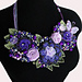 STATEMENT NECKLACE BEADED FLOWERS pattern