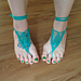 Pineapple Up Barefoot Sandals pattern