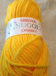 Orange Squiggly super chunky yarn 20 metres per 100 grams