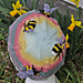 Bumble Bees in Flowers Beanie pattern