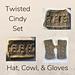 Twisted Cindy Messy Bun Set pattern