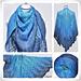Lace Shawl Blue Lagoon pattern