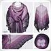 Lace Shawl Black Lavender pattern