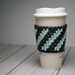 Cool Mint Stripes Coffee Cozy pattern