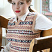 Lady's Sleeveless Fair Isle Pullover pattern