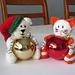 Christmas Bear & Cat Baubles pattern
