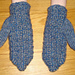 Twined Mittens - Square pattern