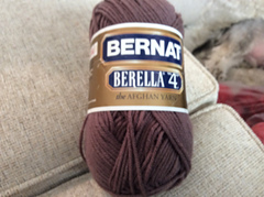 BERELLA 3 Skeins 4 ounce 4 ply Lavender Pink White Ombre Acrylic Knitting Yarn