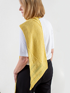 Grass and Stone, knit in Shibui Knits Pebble & Reed, shown in Canary