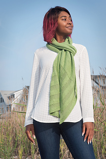 Grass and Stone, knit in Shibui Knits Pebble & Reed, shown in Trellis