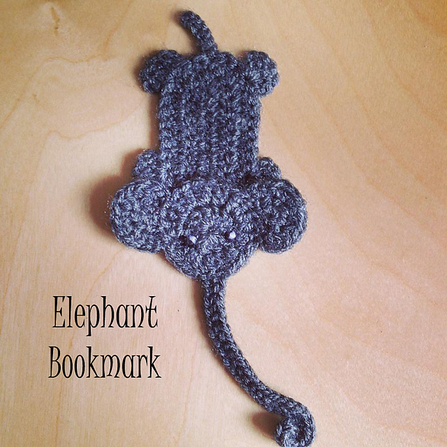 PATTERN Elephant Applique Crochet Pattern PDF Jungle Animal | Etsy | 640x640