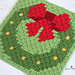 Wreath Pixel Square pattern