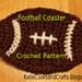 Football Coaster pattern