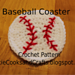 Baseball Coaster pattern
