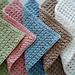 Waffle Crochet Spa Washcloth pattern