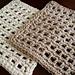 Waffle Crochet Dishcloth  pattern