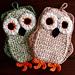 Funky Little Owl Potholder pattern