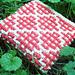 Checker-Square Garter Dishcloth pattern