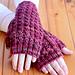 Araluen Fingerless Mitts pattern