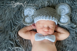 Elephant Collection: Hat and Diaper Outfit - Pretty In Crochet | 213x320