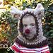 Reindeer Hooded Cowl Christmas pattern