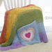 Rainbow Pocket Blanket Knit pattern