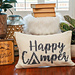 Happy Camper Crochet Pillow Cover pattern