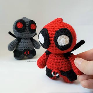 Marvel's Deadpool Doll Amigurumi Crochet Free Pattern | Tricot et ... | 320x320