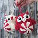 Peppermint Owl Ornament pattern