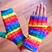 Rainbow Flip Top Mitts pattern
