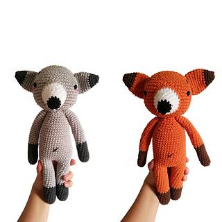 Ravelry: Fox amigurumi pattern by Roxanne Mimeault Art | Horgolás ... | 320x320