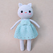 Silver Kitty amigurumi cat pattern
