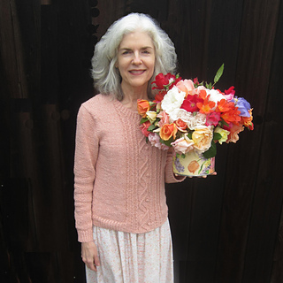 Kimmy with roses from her garden - Easter 2017
