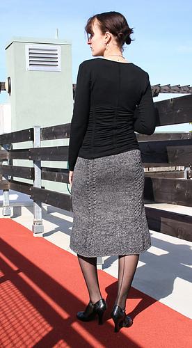 Bell Curve Skirt back