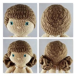How to Attach Hair to a Crochet Doll - thefriendlyredfox.com | 320x320