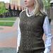 Ladie's Old College Club Vest pattern