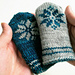 Double knitted baby mittens pattern