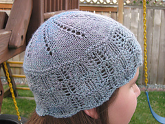 Chemo hat from handspun