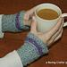 Broomstick Lace Wristlets pattern