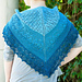 Blue Caterpillar Shawlette pattern