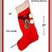 Christmas Rudolph Reindeer Stocking pattern